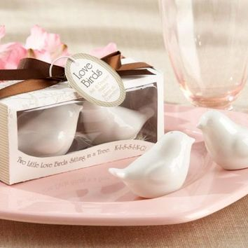 "Wedding favor ""Lovebirds in the Window"" Ceramic Salt & Pepper Shakers caster of creative life (1set = 2 pcs)"
