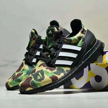 Bape x Adidas Ultra boost co-branded limited-edition casual sports running  shoes 3ef606fa31