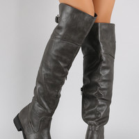 Classic Round Toe Riding Over-The-Knee Boots
