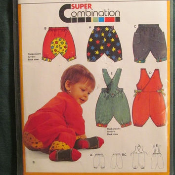SALE Uncut Burda Sewing Pattern, 5318! Infant/Toddlers Jumpers/Rompers/Overalls/Coveralls/Shorts/Pants/Pull On/Sweats/Corduroy's/Fleece