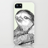 Portrait of a Sloth iPhone Case~~~follow me???~~~