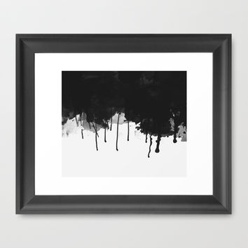 Spilled Ink Framed Art Print by All Is One
