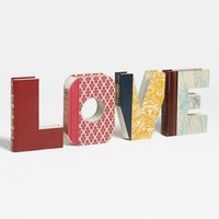 Second Nature by Hand 'Love - One of a Kind' Hand-Carved Recycled Book Shelf Art