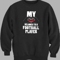 My Heart Belongs To A Football Player Sweater for Mens Sweater and Womens Sweater *
