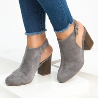 Faux Suede Slingback Booties