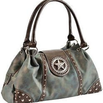 Blazin Roxx Western Handbag Blue Star Women's Shoulder Bag N7515827