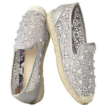 Alessandra Espadrille in Silver by Savi Resort Wear