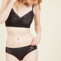 Too Hot Chocolate to Handle Panties in Noir | Mod Retro Vintage Underwear | ModCloth.com