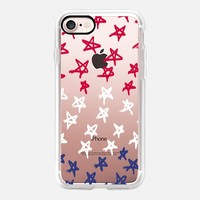 Red, White & Blue Stars - Transparent/Clear Background iPhone 7 Case by Lisa Argyropoulos | Casetify