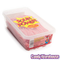 Dorval Sour Power Straws Candy: 200-Piece Tub
