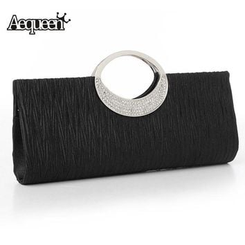 AEQUEEN Women Bags High Quality Evening Clutch Bags Box Handbags Wedding Day Clutches Cystal Bling Shoulder Party Bag