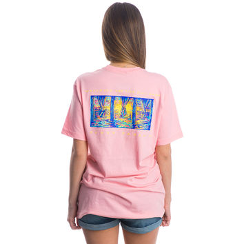 Watching the Tide Roll Away Pocket Tee in Cotton Candy Pink by Lauren James - FINAL SALE