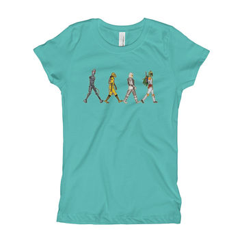 Bounty Road's Fab Four Beatles Star Wars Mash Up Parody Girl's Princess T-Shirt