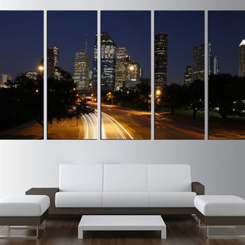 Houston wall art canvas print, extra large wall art, Houston skyline wall art canvas print , city skyline moder wall decor fine art t415