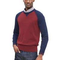 Banana Republic Mens Raglan Pullover