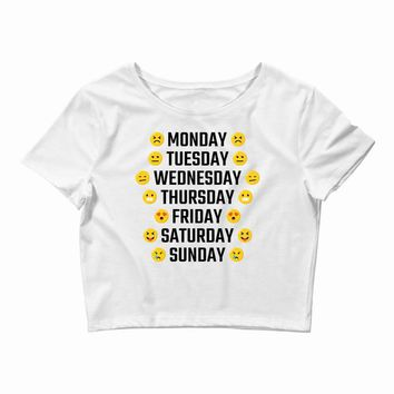 Moods Of The Week Daily Emoji Crop Top
