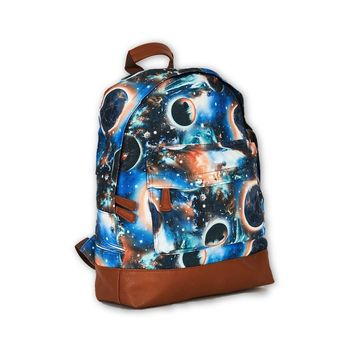 Galaxy Print Blue Canvas Backpack Design Bag