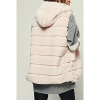Violet B. Faux Fur Vest (Bubble Gum)