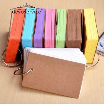 DCCKL72 Cute Kawaii Candy Color Blank Kraft Paper Memo Pads Portable Notepads Words Cards Kids Gift Stationery School Supplies