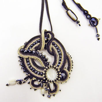 The Winter Sea -Soutache Necklace -Made in Italy Jewels