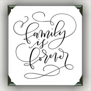 """FAMILY is FOREVER Painted/Decorated 12""""x12"""" Canvases - you pick colors"""