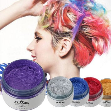 5 Colors fashion Hair wax Non-toxic Temporary Pastel Hair wax Hair Dye Color mud hair color paint