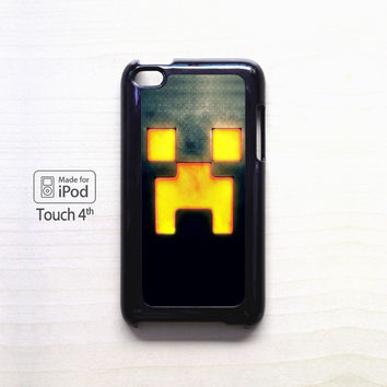 Creeper Minecraft Gold for apple case iPod 4/iPod 5