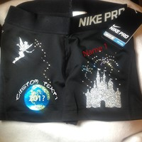 Black NIKE Pro Shorts - 2015 Design *CUSTOMIZED* [Nike Pro] - $60.00 : GLITZ Cheer BowZ, Custom Products From Your Head To Your Toes