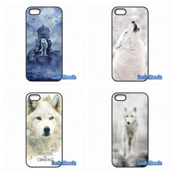 For Samsung Galaxy Note 2 3 4 5 7 S S2 S3 S4 S5 MINI S6 S7 edge games Of Thrones White Wolf Case Cover