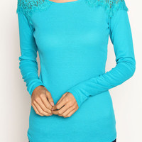 Classic Lace Trimmed Thermal Top