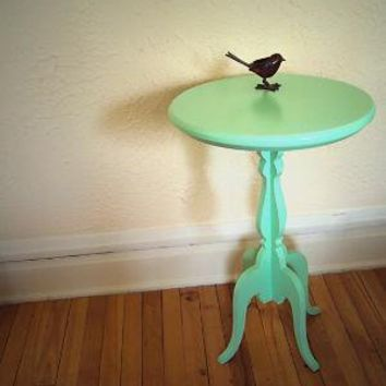 round accent table by uncommon on Etsy