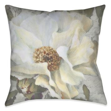 Neutral Peony II Outdoor Decorative Pillow