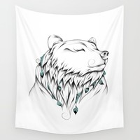 Poetic Bear Wall Tapestry by LouJah