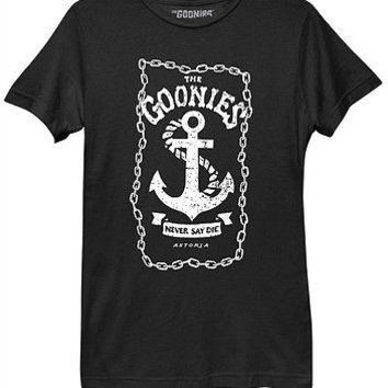 The Goonies Anchor Chains Movie Womens Misses Relaxed Fit T Shirt