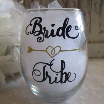 Bride Tribe DIY DECAL ONLY ~ For Bridal Shower ~ Bachelorette Party Glass ~ Water Bottle Sticker ~ Bridesmaids ~ Brides ~ Wedding Favors