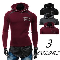 Long Sleeve Winter Men Casual Sports Patchwork Hoodies [10669399427]