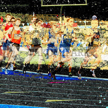 Modern Track And Field Artwork, Gift For Runners, Running Art Print, Photo Print, Track And Field Decor, Bedroom Wall Art, Sports Art Decor