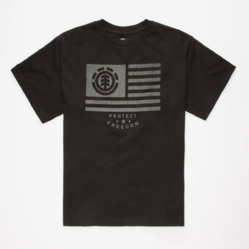Element Free Roller Boys T-Shirt Black  In Sizes