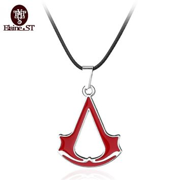 PS3/PS4 ACT Game Assassin's Creed Necklace Assassins creed Red Logo Charm personalized Pendant Necklace Jewelry for women gifts
