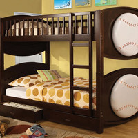 Baseball Twin over Twin Bunk Beds