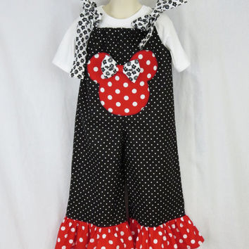 Girls Longall Romper, Minnie Outfit for Baby Girls, Disney Birthday, Holiday, Pillowcase Romper, Girls Jumpsuit, Jumper