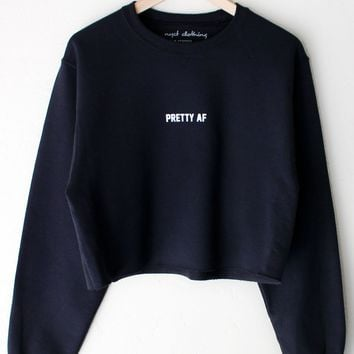 Pretty AF Oversized Cropped Sweater