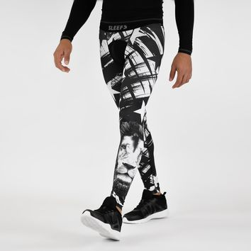 Stars with white lion Tights for men