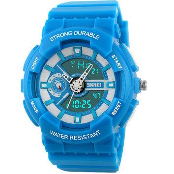 2016 SKMEI popular hot Brand women girl teenage Sports Watches Fashion Casual waterproof swim chronograph digital quartz clock