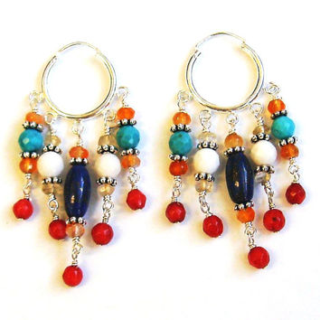 Egyptian Sunset Hoop Earrings