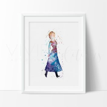 Anna, Frozen Watercolor Art Print