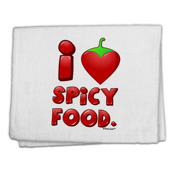 "I Heart Spicy Food 11""x18"" Dish Fingertip Towel"