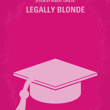 No301 My Legally Blonde minimal movie poster Art Print by Chungkong