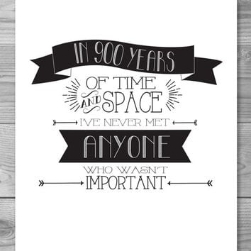 Doctor Who - Important Typography Quote Poster