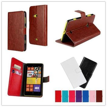 For Nokia Lumia 625 N625 Case High Quality Fashion Design Holster Flip Crazy Horse Pu Leather Cases Cover D431 A